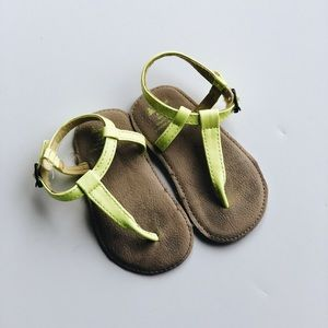 Neon yellow 6-12 month baby sandal from the Gap